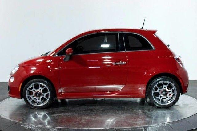 2015 Fiat 500 Sport 22661 Miles Rosso Brillante Red Tri Coat