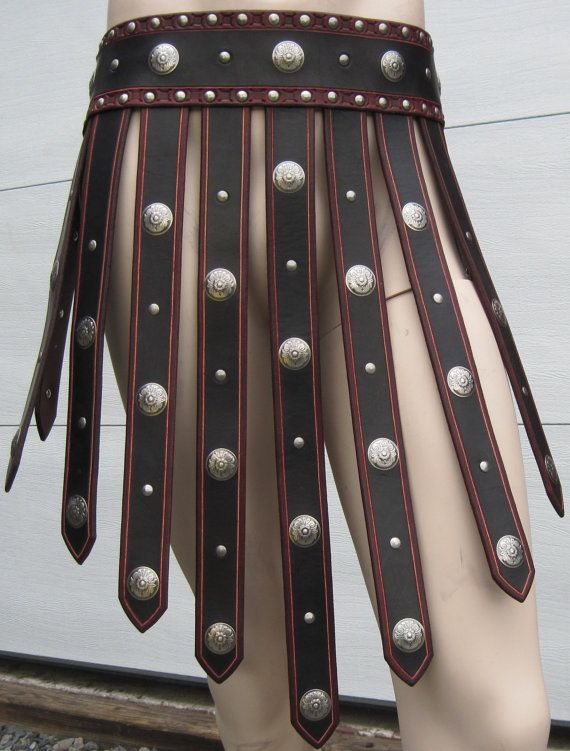 Roman Gladiator Leather Armor War Skirt by SharpMountainLeather