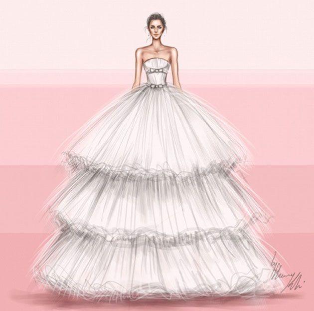 Desenhos Para Inspirar Noivas De Todos Os Tipos Esboços De
