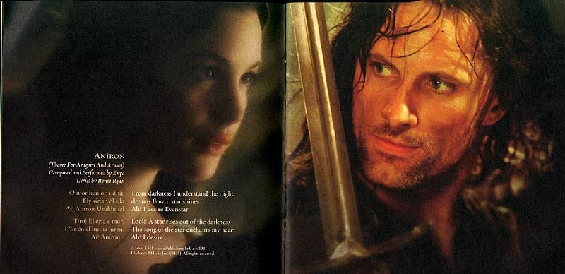 Fellowship Of The Ring Soundtrack Booklet Lyrics