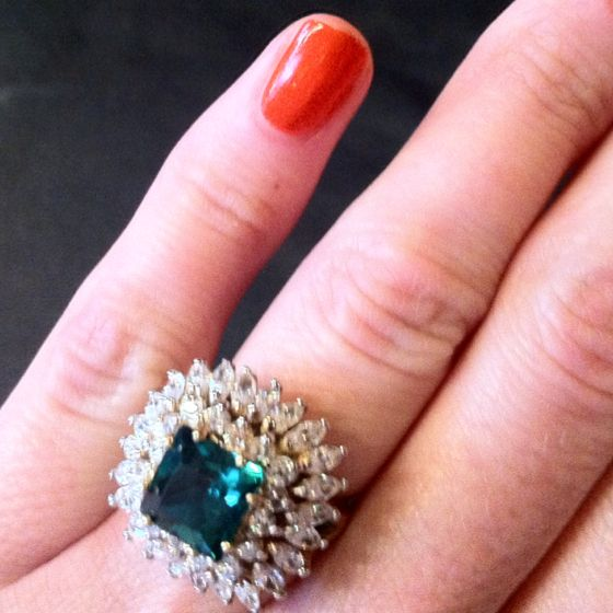 Replica of Jackie Kennedy engagement ring Vintage Pinterest