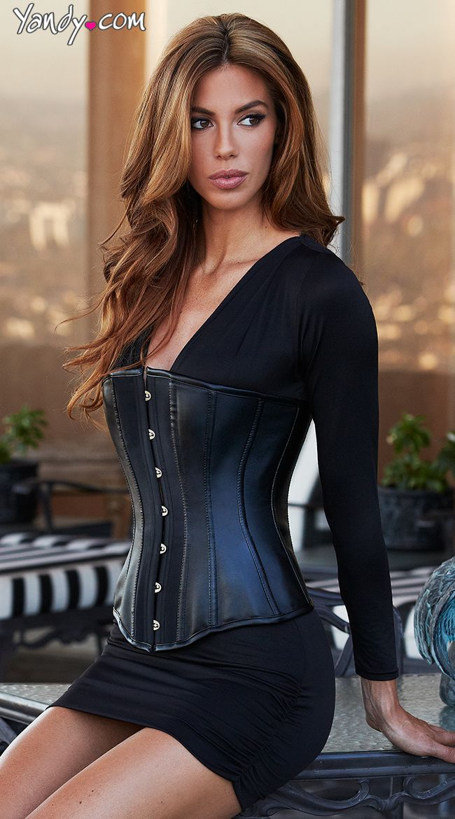 Essential Satin And Leather Corset What To Wear Boudoir