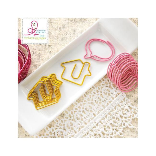Webster's Pages Sweet Routine Variety Pack Decorative Paper Clips 10/Pkg Houses & Bubbles - スクラップブッキング素材店 Dream Maker