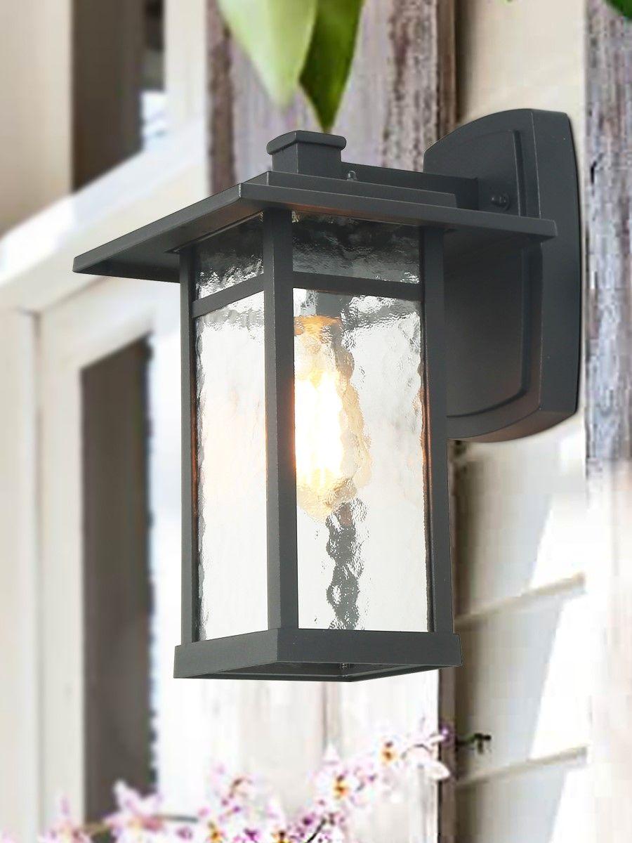 Lnc Outdoor Wall Lights 1 Light Transitional Black 13 4 H X