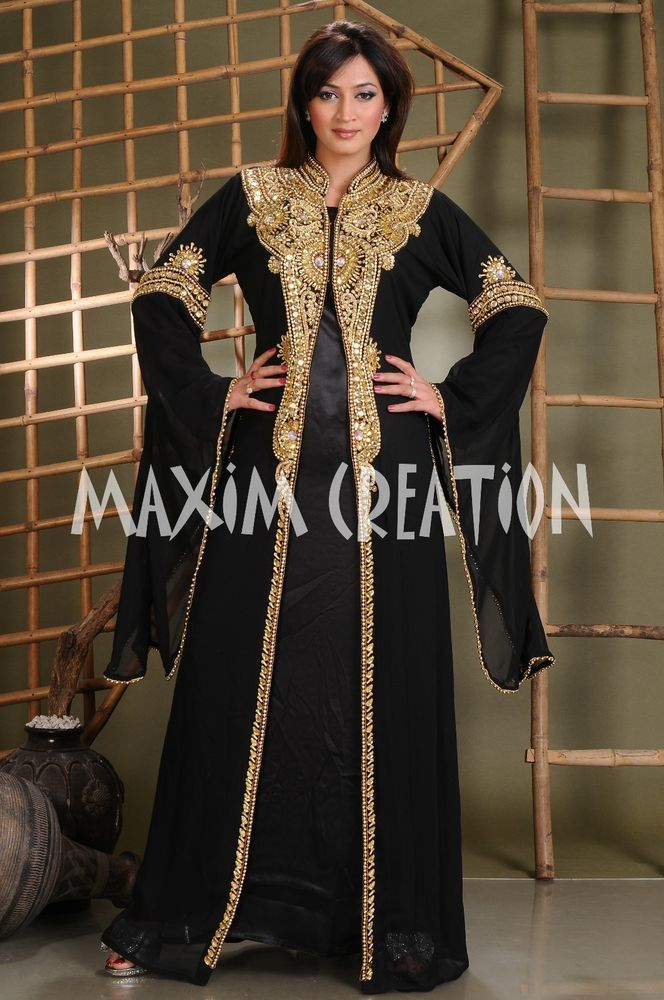 0f435a1307 Dubai Farasha Moroccan Kaftan Dress Abaya Jilbab Islamic Arabian clothing  3272 #MaximCreation #Kaftan #Formal
