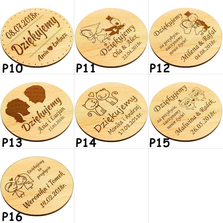 Magnes Na Lodowke Podziekowanie Gosci Slub Wesele 7245990025 Oficjalne Archiwum Allegro Personalized Items