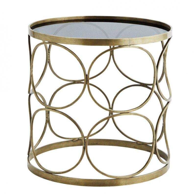 Madam Stoltz Round Coffee Table Brass Glass Round Glass Table Madam Stoltz Round Glass Coffee Table Round Glass Table
