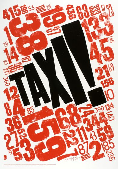 Alan Kitching, the master of letterpress and printmaking #taxi #typography #graphic design