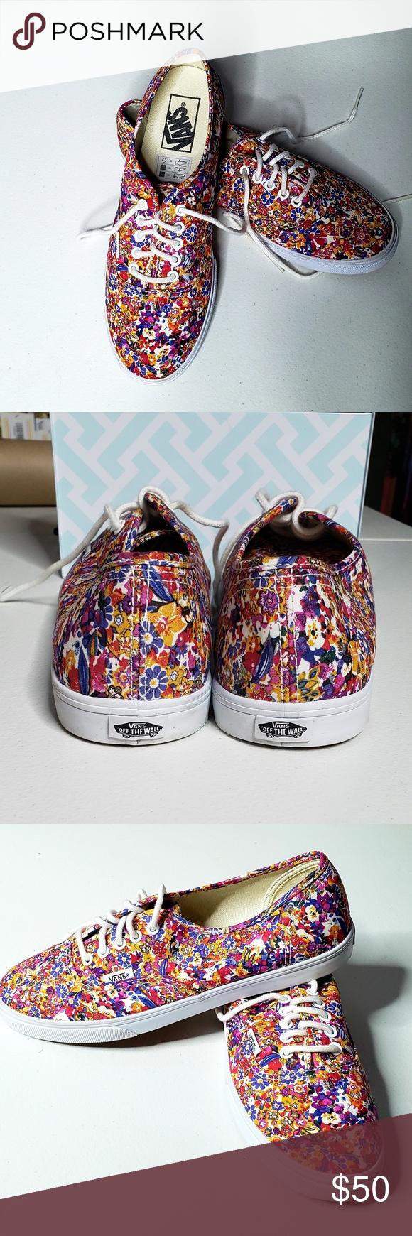 3f8db8c8748a NEW! Floral VANS Beautiful floral Van s. Never worn. Size 8.5 S-103 Vans  Shoes Sneakers
