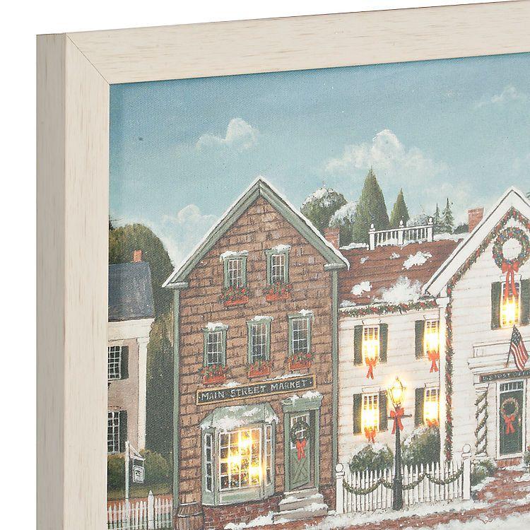 Christmas Village LED Framed Art Print | Art | Pinterest | Christmas ...