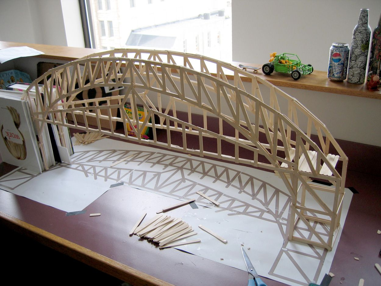 How to build a bridge out of popsicle sticks room for Bridge design