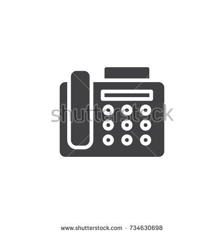 Fax machine icon vector, filled flat sign, solid pictogram