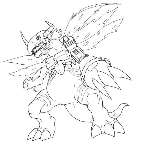 Digimon Metalgreymon Coloring Pages