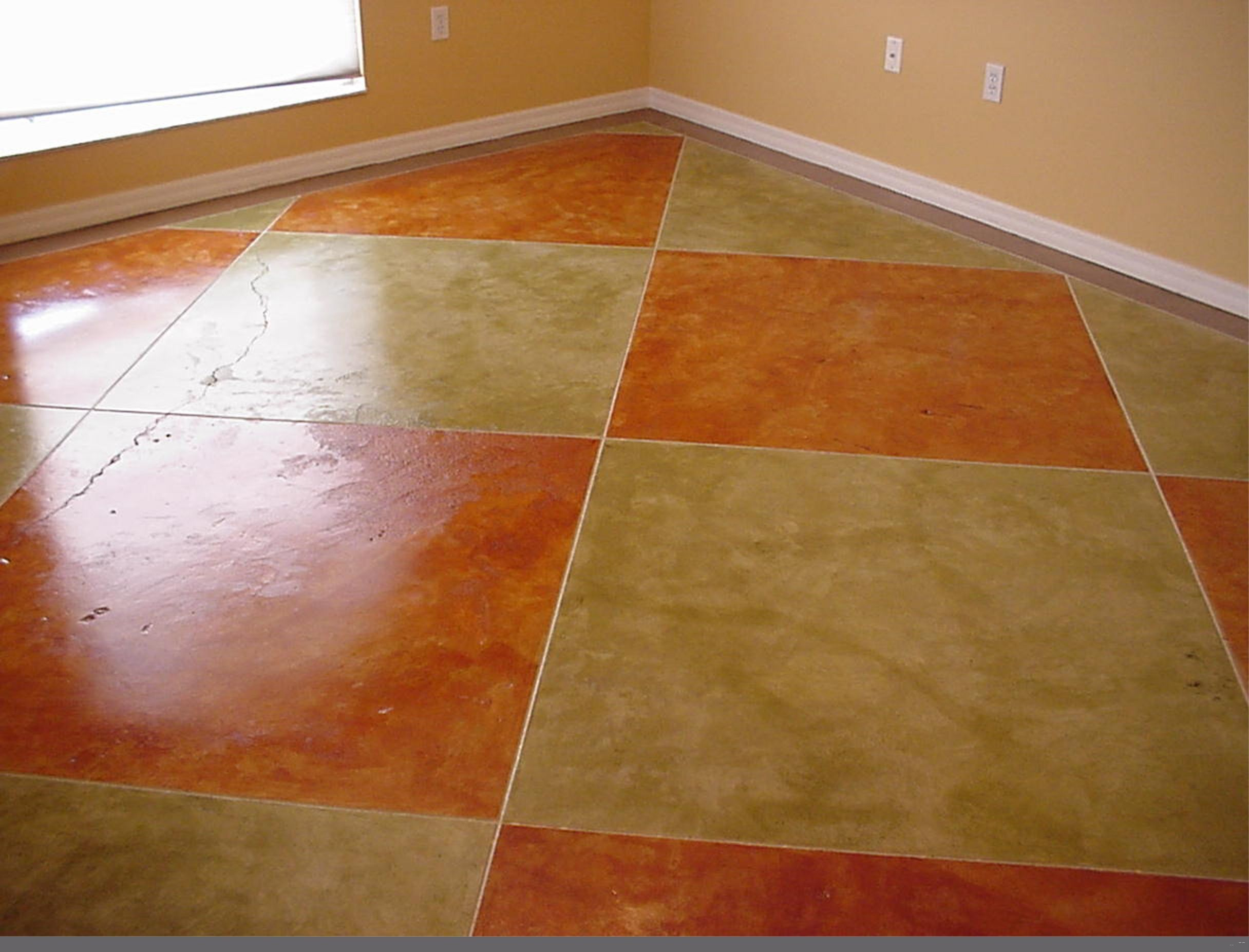 Indoor concrete etching concrete staining engraving