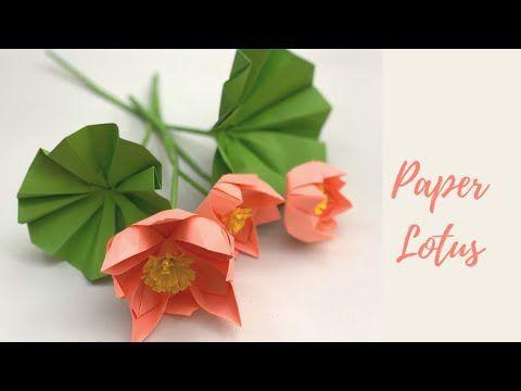 Paper Flowers   Very Easy Paper Lotus Flower   LOTUS FLOWERS   Paper Craft   Paper Craft Flowers