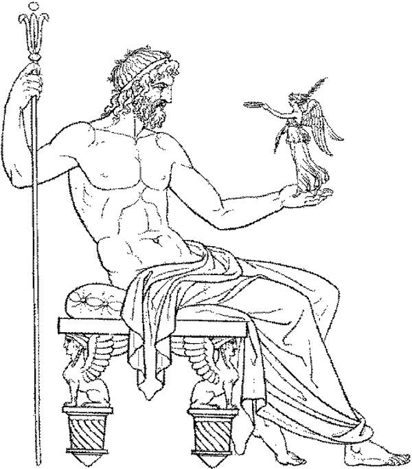 Amazing Drawing Greek Gods and Goddesses Coloring Page Adult