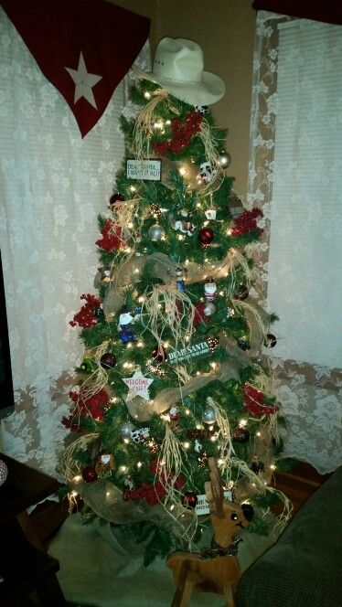 My western themed Christmas tree! | Western christmas ...