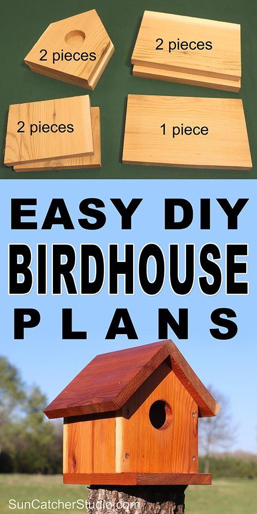 BirdHouse Plans Easy e Board DIY Project