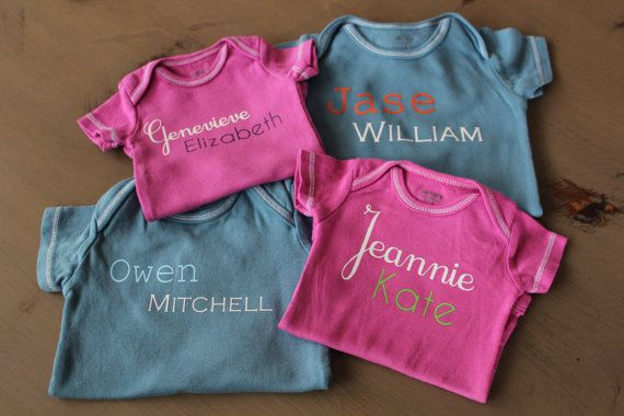Love these monogram onesies! You can pick all your colors!