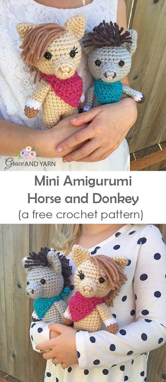 Pedro the Amigurumi Donkey | amigurumi crochet pattern, written ... | 1260x549