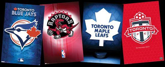 Combo Toronto Sports Teams 3 Poster Combo Set Maple Leafs Raptors Blue Jays Blue Jays Maple Leafs Raptors