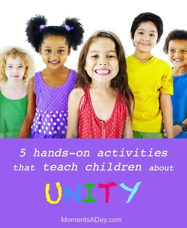 Classroom Unity Ideas : Activities to teach children about unity kids learning