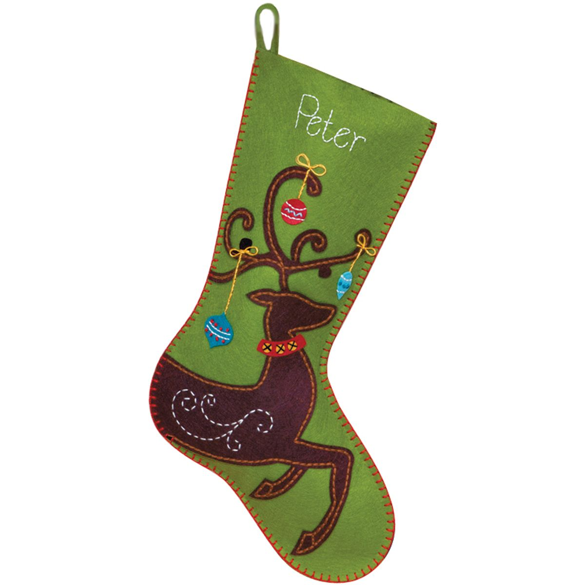 Dimensionsfelt applique kit stocking classic designs and high