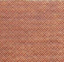 WC 20 Antique Copper Faux Tin Backsplash Roll comes in 3 sizes and 11 colors.  The pattern size is 1 and a 1/4 of an inch.