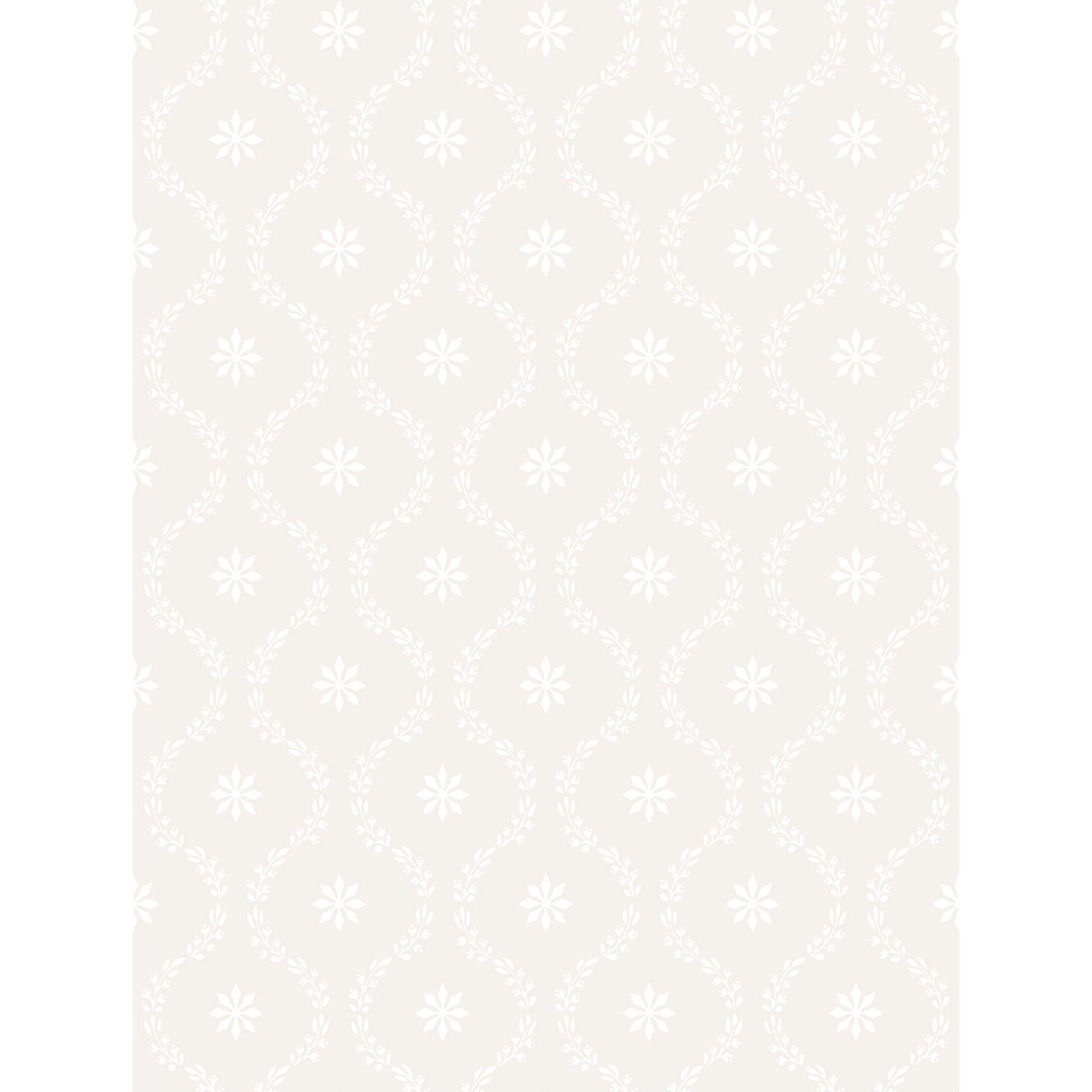 Clandon Snow Wallpaper roll, Wall coverings, Lee jofa