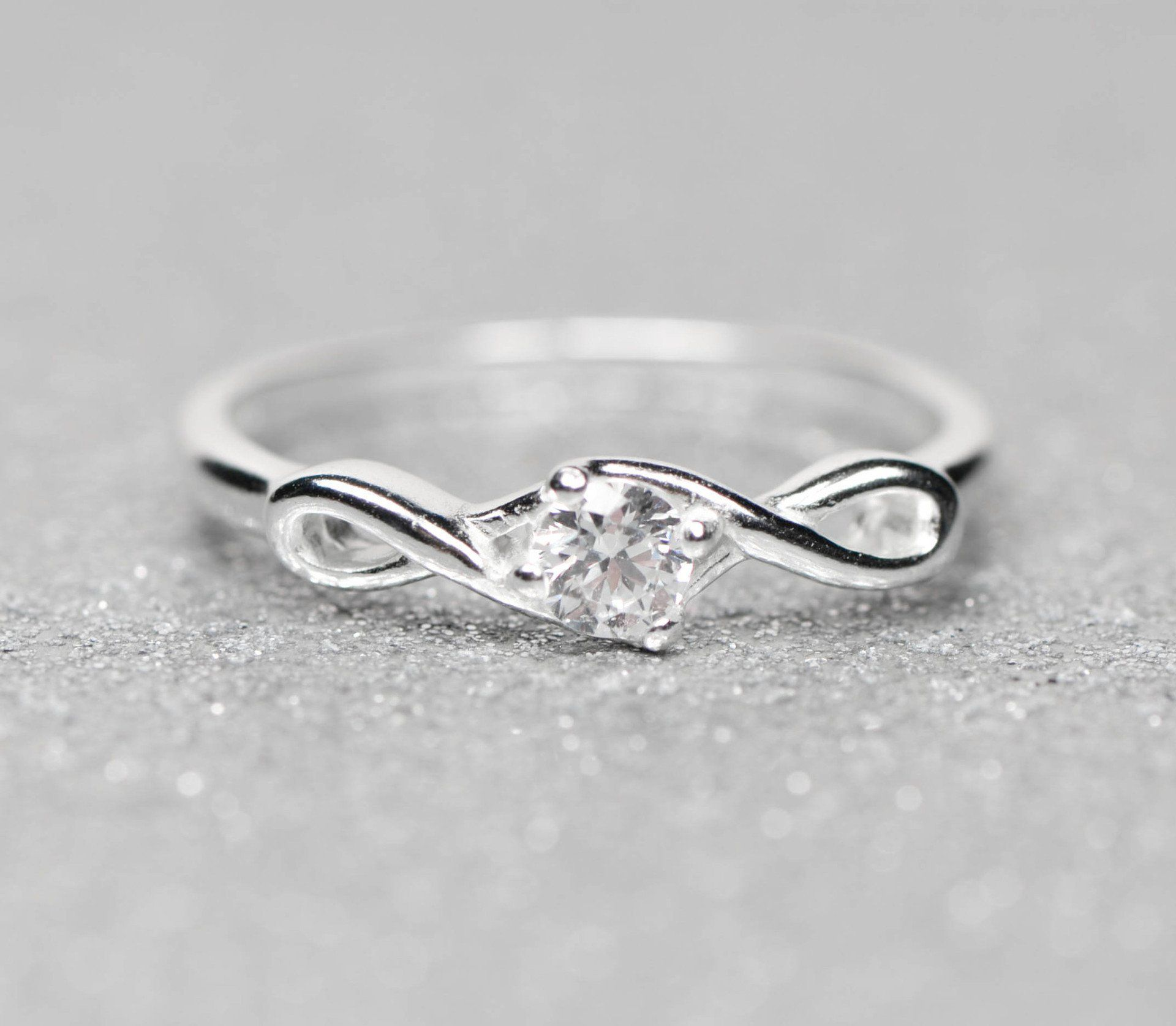 Sterling Silver Infinity CZ Promise Ring Sterling silver and Stone