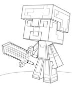 minecraft steve diamond armor coloring