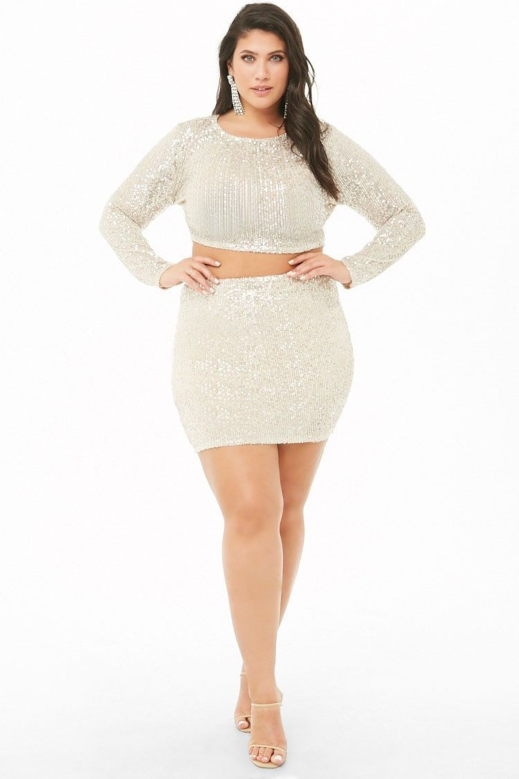 481b3e6fe Plus Size Sequin Crop Top | Forever 21 | My Style in 2019 | Fashion ...