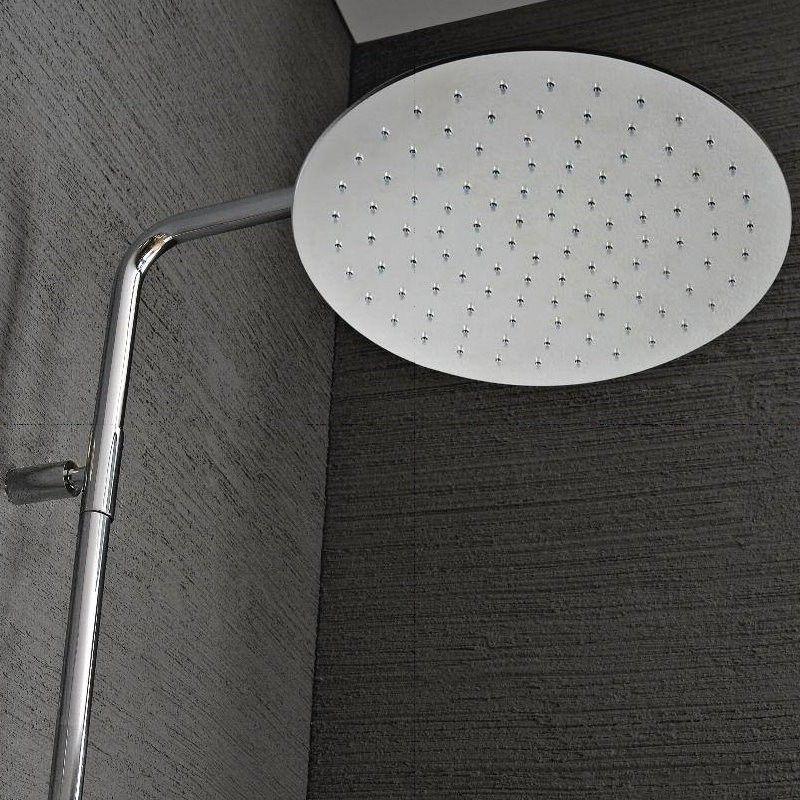 Treemme | große Aufputzbrause Nano | mit Umschalter Regenbrause und Handbrause | zwei Oberflächen wählbar