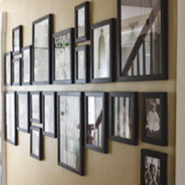 Great picture hanging idea from Martha Stewart! Going to do this in ...