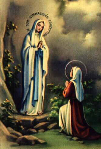 Our Lady of Lourdes - Mary Appearing to Saint Bernadette Soubirous ...