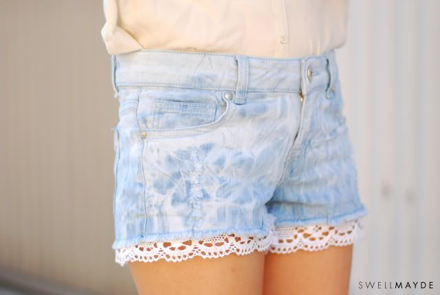 how to make jean shorts with lace | Gommap Blog