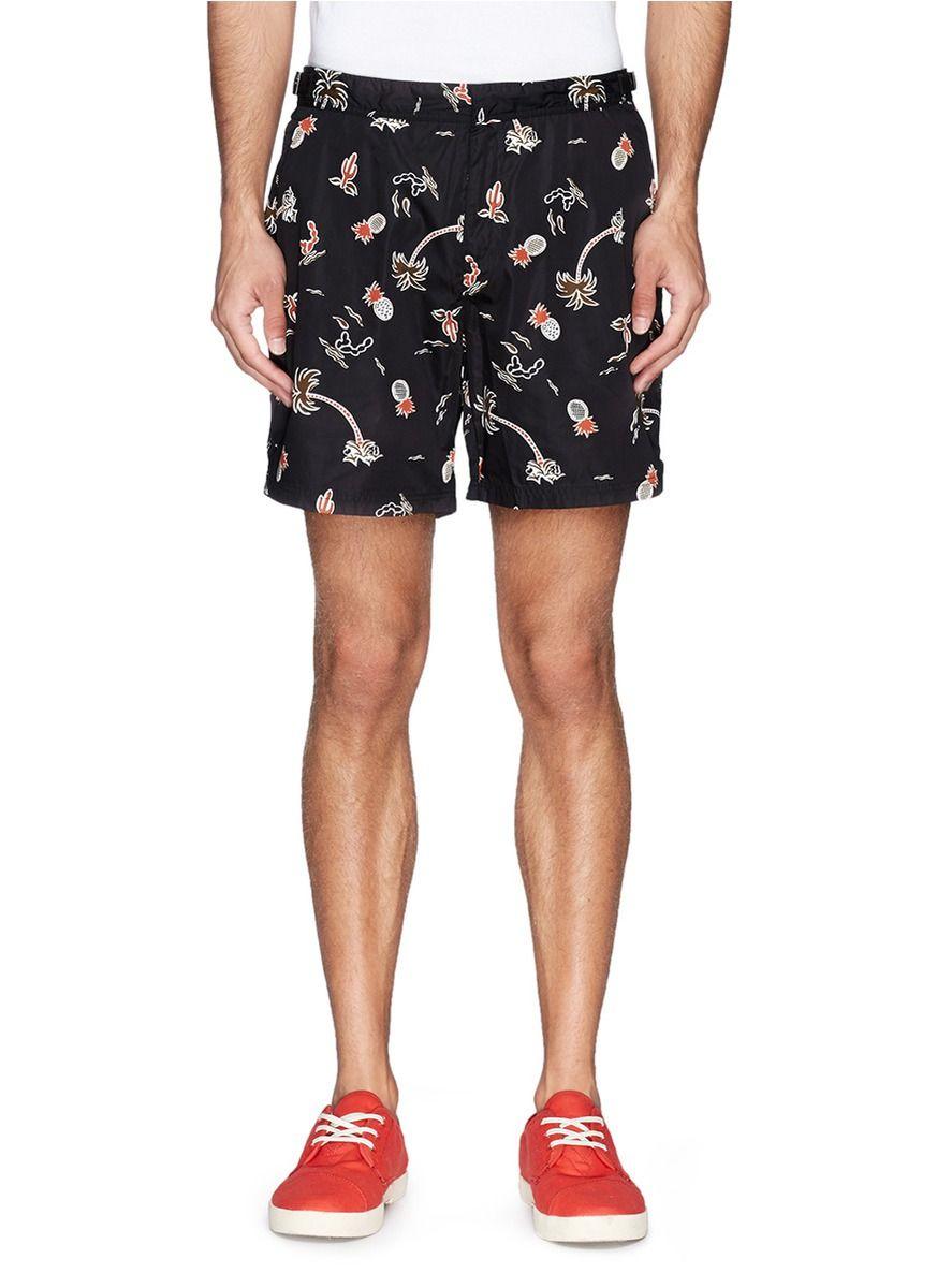 c89ca28a7a1 Mexican tropical print swim shorts | men's swimwear | Trunks ...
