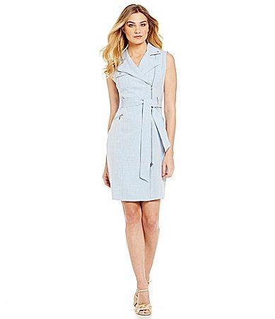 276814f807e Calvin Klein Belted Chambray Shirt Dress  Dillards