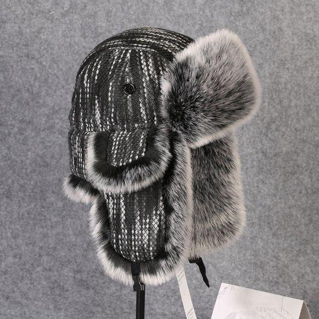 205b5ec17a4 Winter Thermal Thick Earmuffs Knit Cotton Hat Men Women Outdoor Hiking  Fishing Skiing Cycling Warm Earflaps