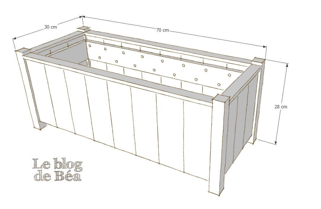 diy jardini re en planches de palette et tasseaux meuble. Black Bedroom Furniture Sets. Home Design Ideas