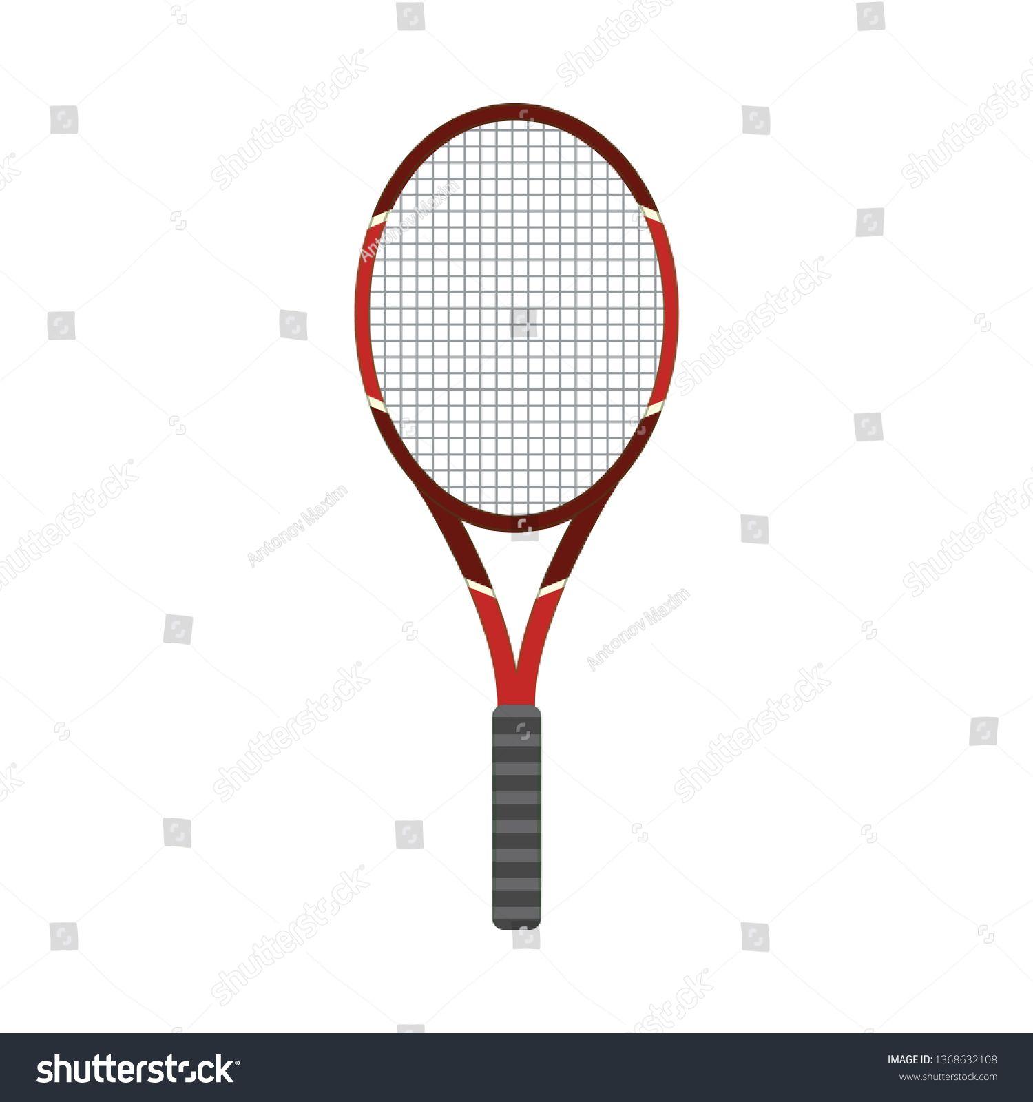 Vector Tennis Racquet Icon Game Equipment Professional Sport
