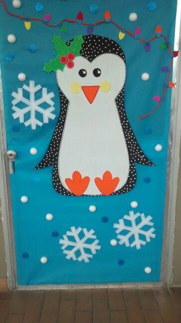 Puerta navide a puerta para la navidad pinterest for Manualidades navidenas preescolar
