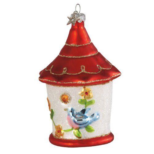 Birdhouse Ornament By Glass Works