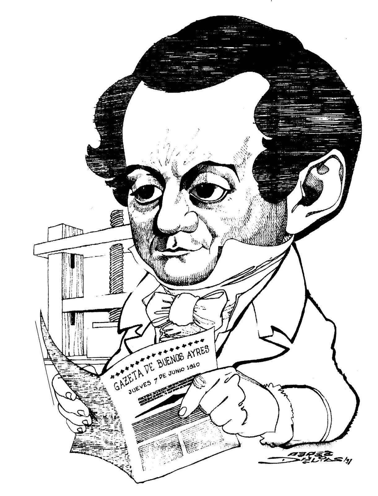 Resultado de imagem para caricatura de rivadavia