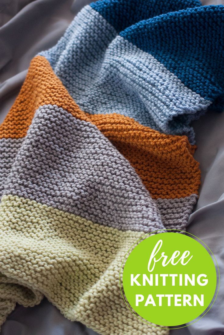 Bouncing Baby Blanket Free Knitting Pattern | Easy patterns ...