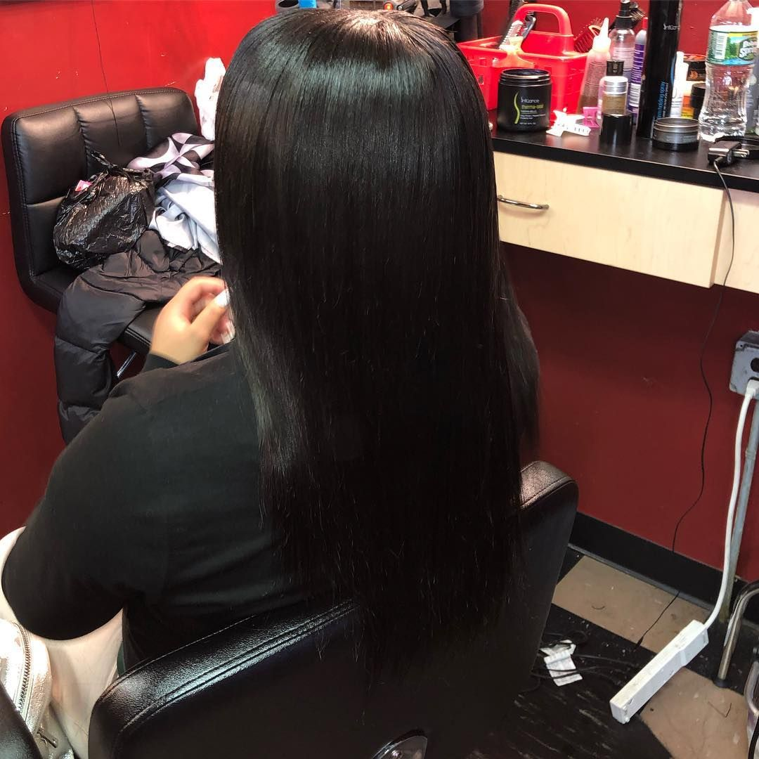 Natural Basic Sew In With 2 Bundles Of 16 Inch Straight Brazilian Doll Tresses Straight Sew In Hair Styles Brazilians