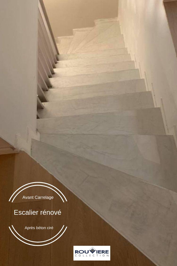cet escalier carrelé a trouvé une nouvelle jeunesse grâce au micro