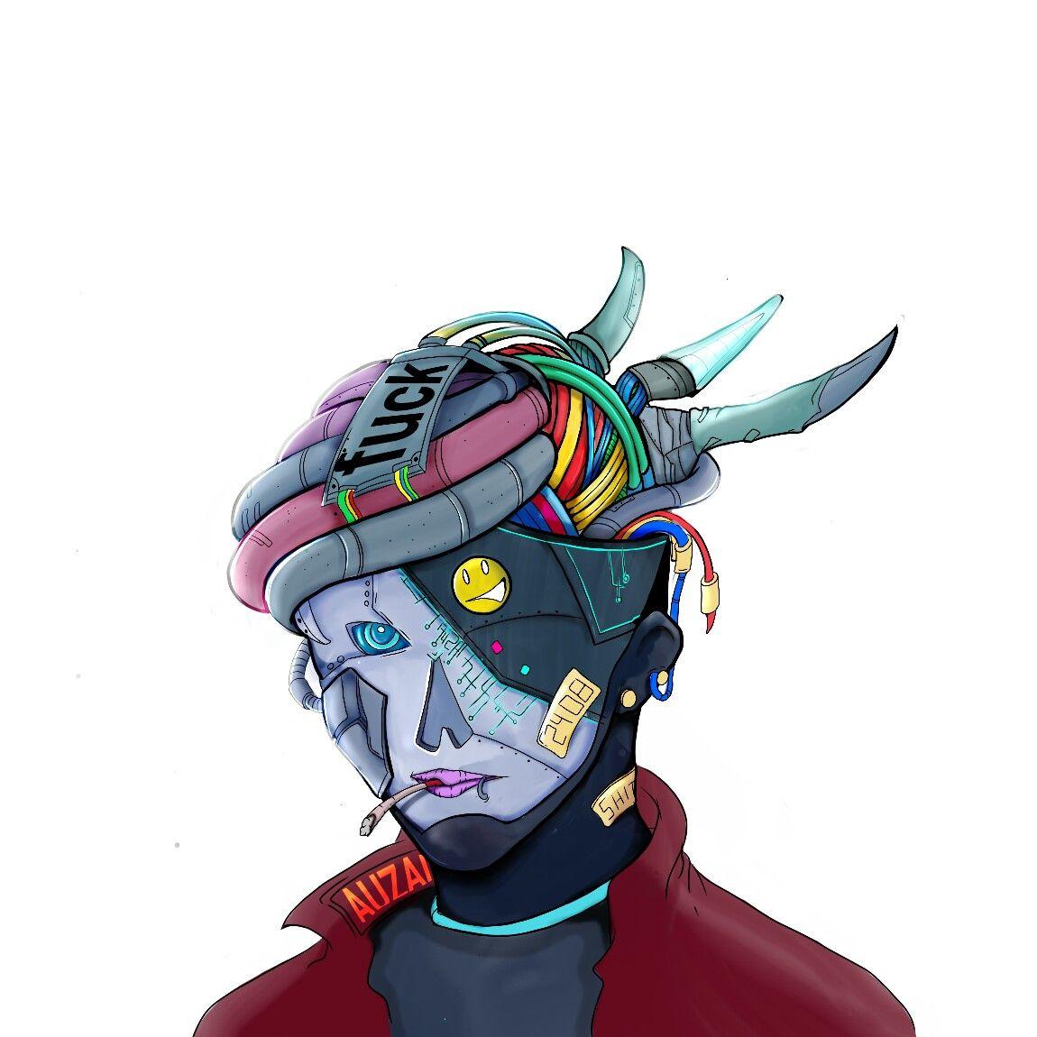 Pin By Iffah Fathin On Style: Cyberpunk Art By @auzai_