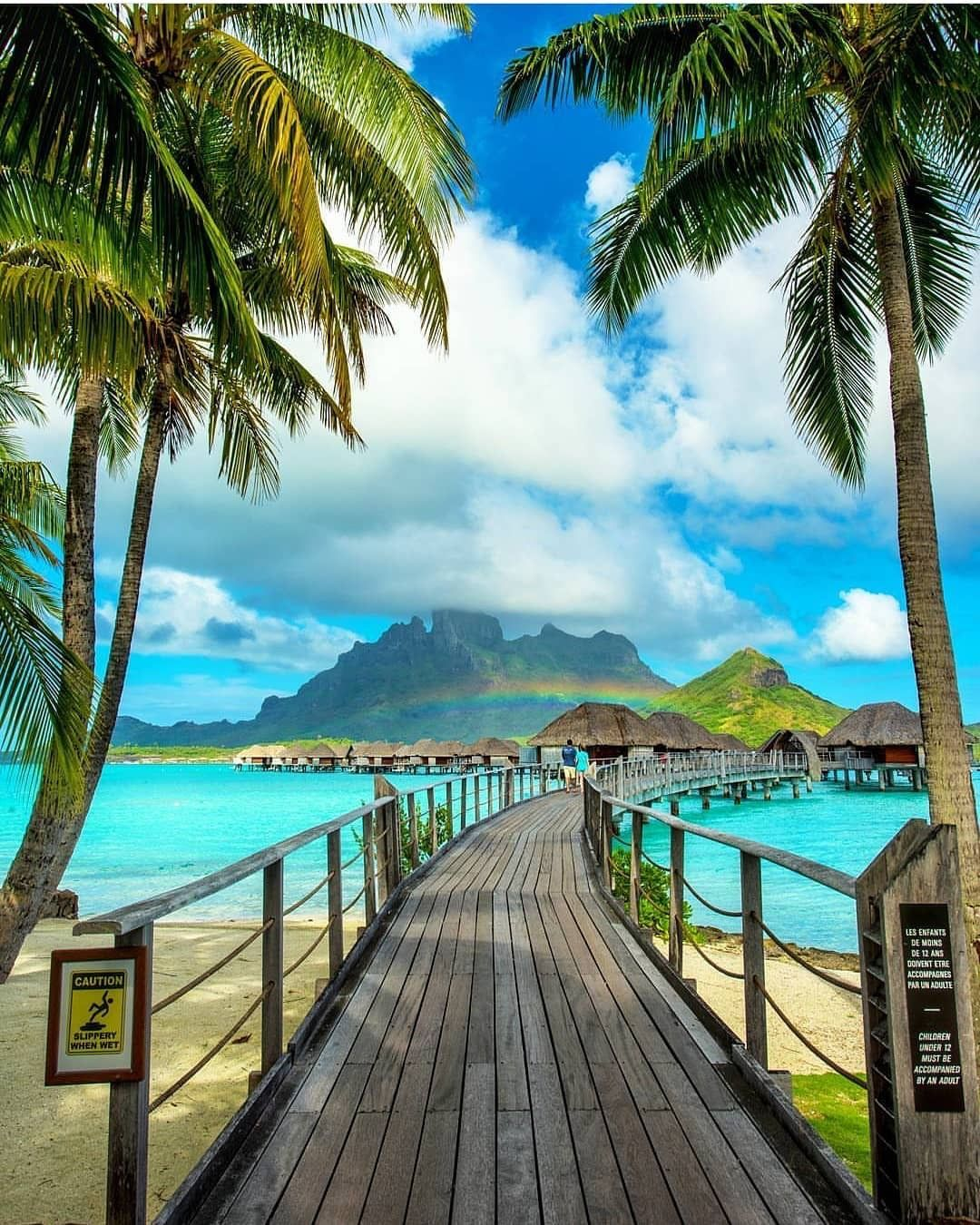 Bora Bora Combo Sunset Cruise Romantic Dinner Tempat Liburan Pemandangan Pantai