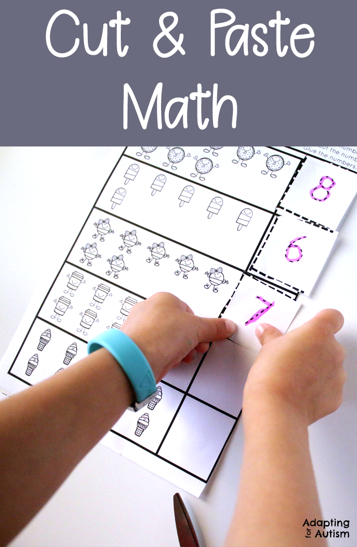 Any Time Cut And Paste Math Worksheets For Special Education And